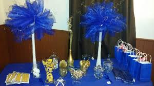 Royal Blue Baby Shower Decorations - blue and gold baby shower decorations