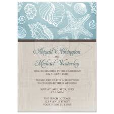 reception only invitations only invitations rustic seashells linen