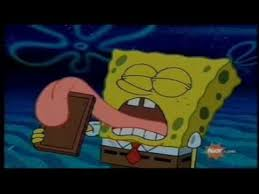 Spongebob Licking Meme - spongebob licks a chocolate bar vigorously for 21 seconds youtube