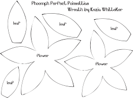 10 best images of poinsettia flower template printable flower