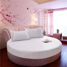modern bedroom set furniture round bed o6804 100 cotton round bed sheets set 3pcs 1 fitted sheet with elastic