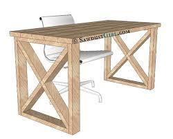 Diy Wood Desk Plans Easy Diy Computer Desk X Leg Desk Plans And Tutorial From Sawdust