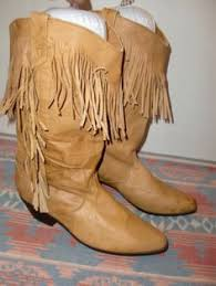womens brown boots size 9 ariat fringe 13629 lined leather s cowboy
