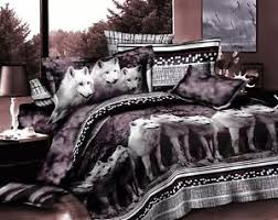 wolf bed set gray grey white wolf cotton queen size bed sets duvet quilt