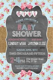 baby girl shower invitations turquoise pink shabby chic baby girl shower invitations