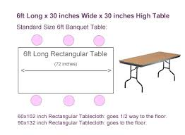 standard table runner size what size tablecloth for 6ft rectangular table tableclothsforless com