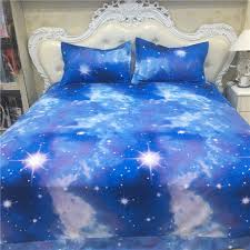 xk 016 kids fancy blue galaxy bed set single 3pcs full double size