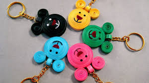 key rings designs images Paper quilling designs beautiful micky mouse key chains paper jpg