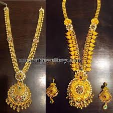 long chain necklace designs images Antique floral long chains jewellery designs jpg
