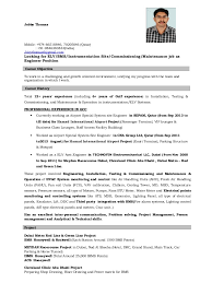 Resume For Airport Jobs by Elv Engineer 2