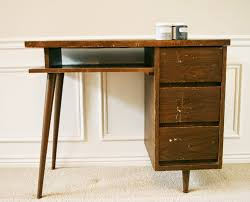 the how to gal mid century modern desk makeover