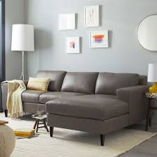 Build Your Own York Leather Sectional Pieces West Elm - York sofa bed 2