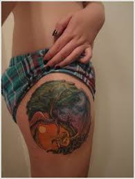 3d half moon tattoos meaning image for design idea