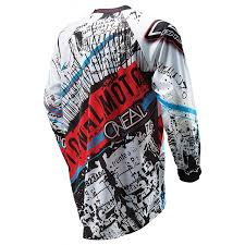 child motocross gear o u0027neal element motocross jersey acid blue red size l amazon co