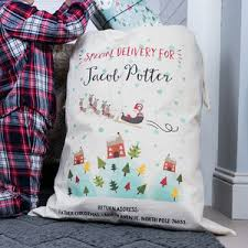 children s personalised santa sack by snuggledust studios