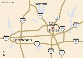 Dallas Texas On Map by Directions U0026 Parking The George W Bush Presidential Library And