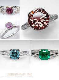engagement rings colored images Colored wedding rings medpeds buffalo info jpg