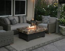 unique outdoor table with fire pit in center outdoor furniture fire