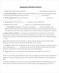 8 rent contract templates free sample example format download