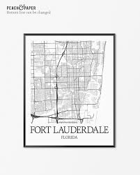 floor and decor fort lauderdale fort lauderdale map art print fort lauderdale poster map of