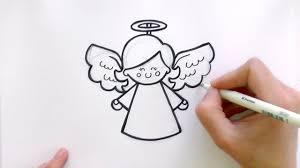 how to draw a cartoon christmas angel youtube