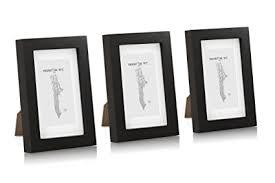 cornici a vista solide cornici per foto 10x15 pacco da 3 cornici in legno nera