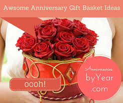 anniversary gift basket awesome ideas for a wedding anniversary gift basket