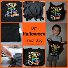 Diy Halloween T Shirts Bake Craft U0026 Diy Diy Halloween Treat Bag From A Shirt