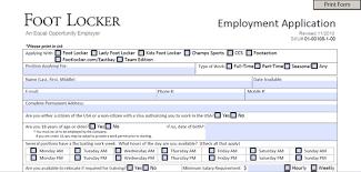 Footlocker Resume Kids Foot Locker Application Pdf Print Out
