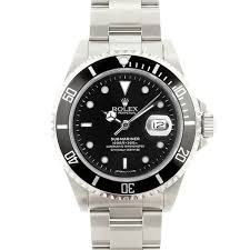 rolex on sale black friday pre owned rolex men u0027s submariner stainless steel black dial watch