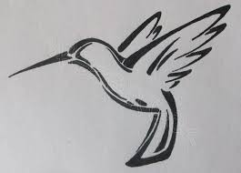 again tribal hummingbird tattoo design photos pictures and
