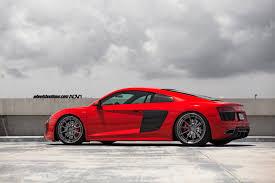 Audi R8 Modified - red audi r8 v10 adv10 track spec cs series wheels adv 1 wheels