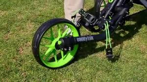 caddytek ez fold 3 wheel golf push cart video gallery
