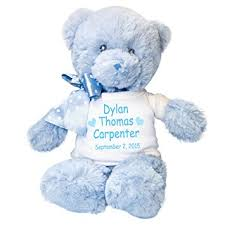 engraved teddy bears personalized blue teddy for baby boy toys