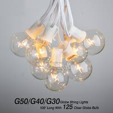 Ebay String Lights by 100 Ft Outdoor Globe Patio String Lights 100 Sockets 125 Clear