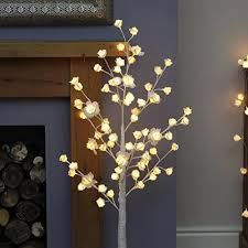 125cm white twig tree with 72 warm white leds by festive