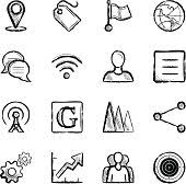 social sketches 16 free icons icon search engine