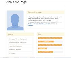 about me page u2014 wordpress plugins