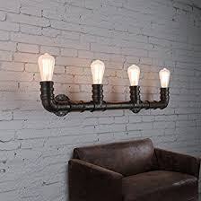 Wall Mounted Lighting Fixtures Industrial Rustic 4 Lights Wall Sconce Litfad Steunk Pipe
