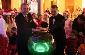 tree lighting ceremony in kempinski hotel guiyang