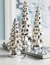 light up mercury glass trees 10 inch 11 5 inch 13 inch set of