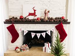 White Christmas Flower Decorations by Elegant Christmas Stacked Stone Fireplace Ideas Integrates Divine
