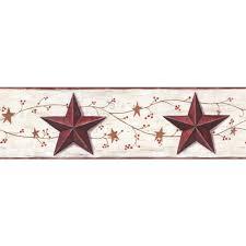 Barn Stars Home Decor Collections U003e Hearts And Crafts Iii U003e Border Wallpaper U0026 Border
