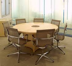 round office table and chairs fulcrum round conference meeting table office furniture systems