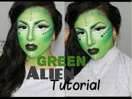 green alien halloween tutorial makeup by leyla youtube
