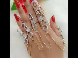 beautiful hand rings images Beautiful bridal finger rings cuffs designs elegant hand jpg