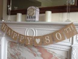 quality crafted happy 80th birthday or anniversary banner