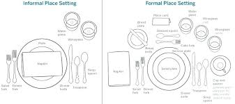how to set a formal dinner table dinner place settings isographsl com