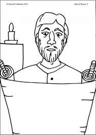 saul on the road to damascus coloring page u2013 az coloring pages