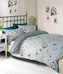 Kingsize Duvet Cover Pale Blue Chelsea Floral Reversible King Size Duvet Cover Bedding